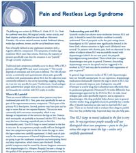 Pain and RLS