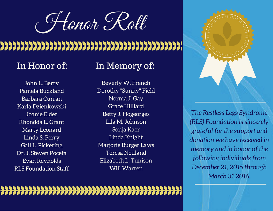 Honor Roll March 2016